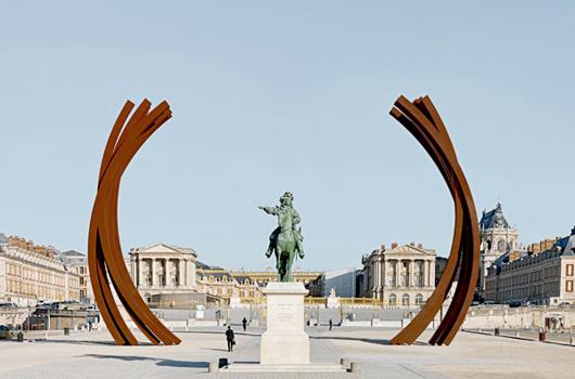 Une oeuvre de Bernar Venet au Palais de Versailles