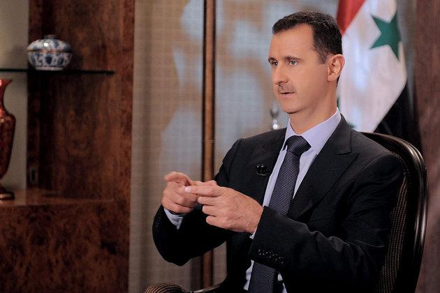 Bachar al-Assad dimanche 21 août à la télévision © MaxPPP