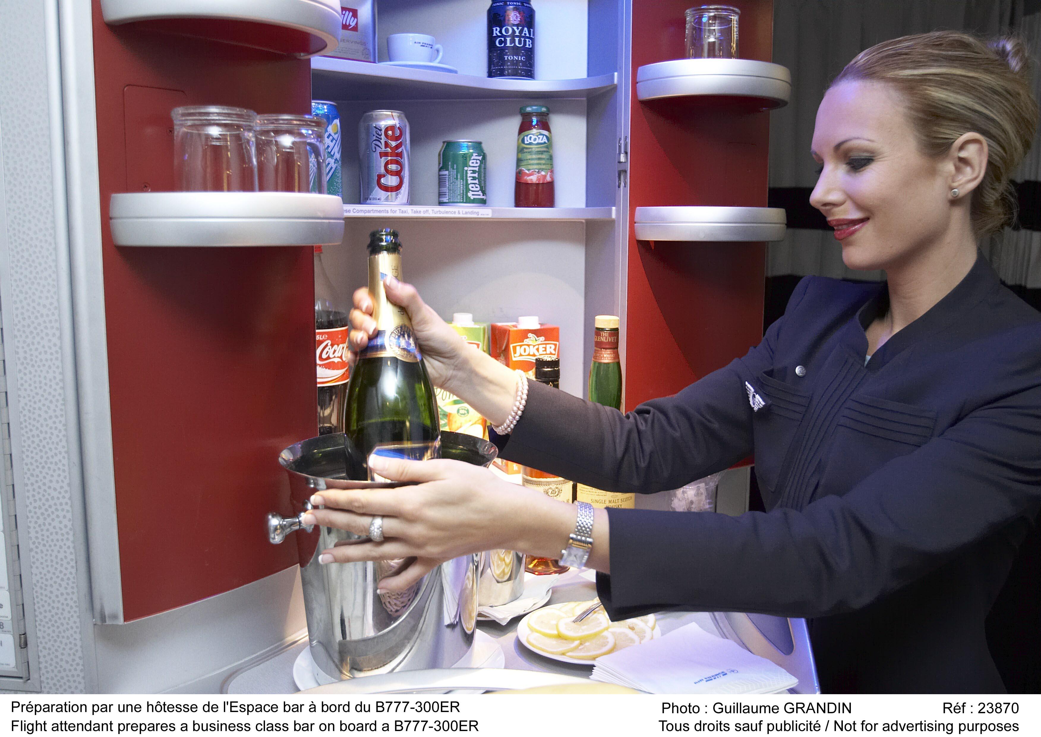Hôtesse de l'air d'Air France © Guillaume Grandin