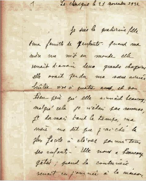 Le manuscrit soi-disant inédit de Marguerite Anzieu © Artcurial