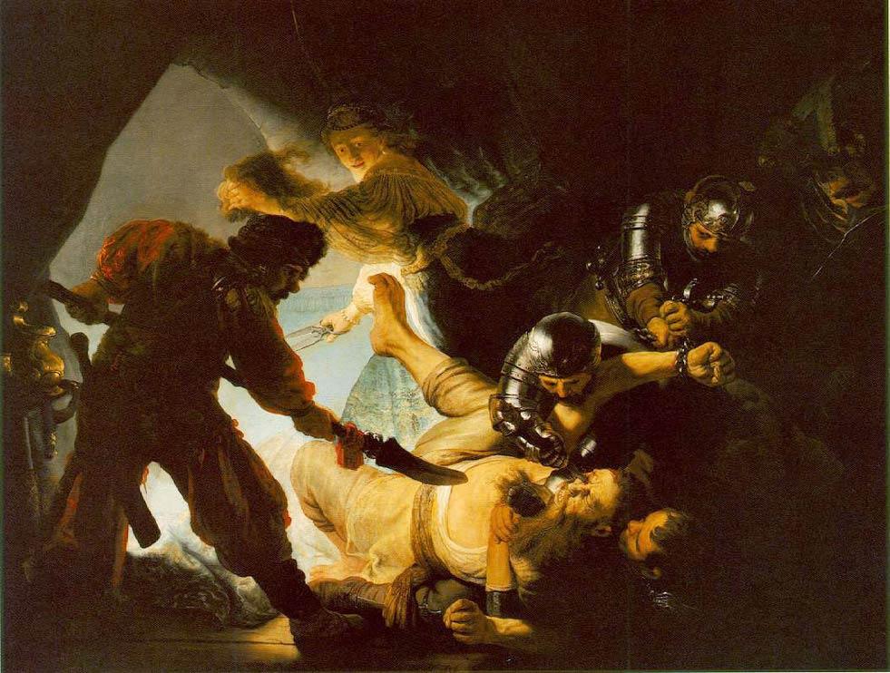 L'Aveuglement de Samson de Rembrandt