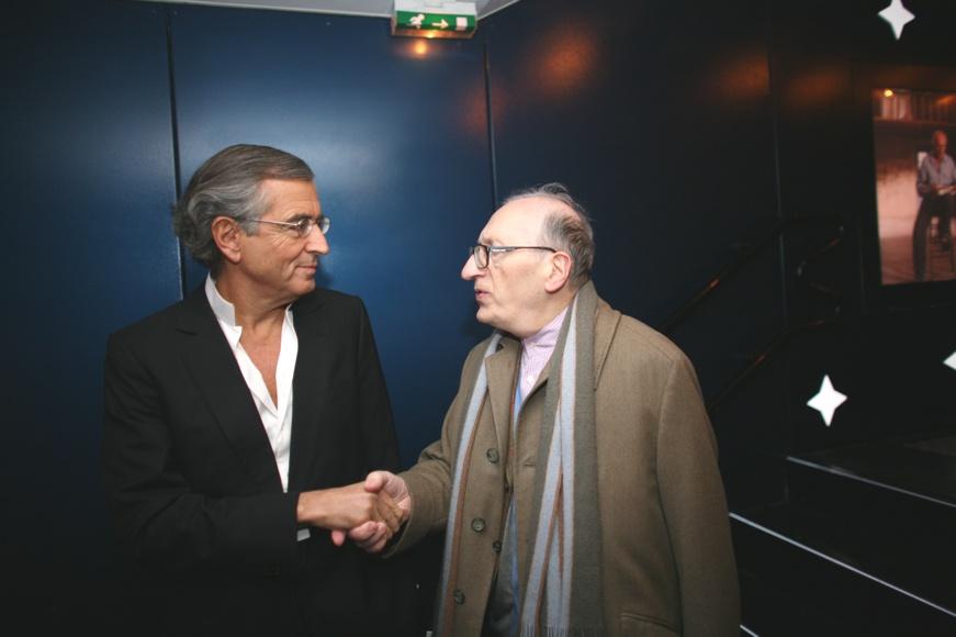 Bernard-Henri Lévy et Jean-Claude Milner. (c)Vincent Bitaud
