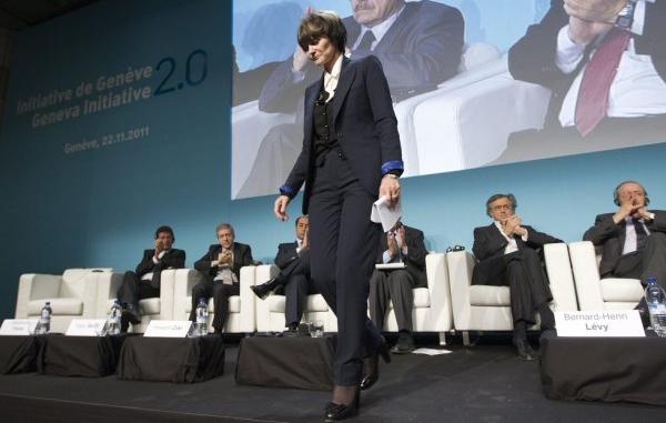 La présidente de la Confédération helvétique Micheline Calmy-Rey (c) Keystone