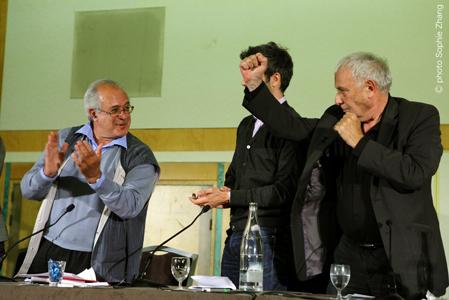 Philippe Sollers et Jacques-Alain Miller le 6 septembre 2011 © Sophie Zhang