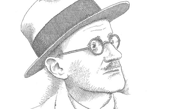 James Joyce par Pierre Le-Tan