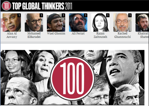 The Top global thinkers 2011