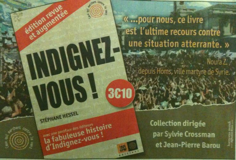 Publicité parue en Une du quotidien Le Monde le 14 décembre 2011.