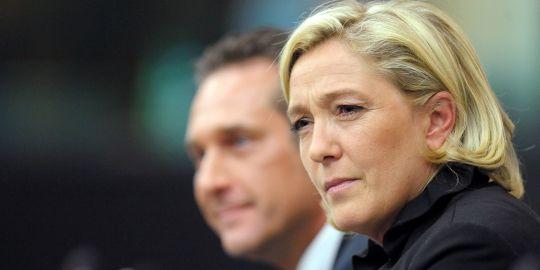 Marine Le Pen et Heinz-Christian Strache (FPÖ)