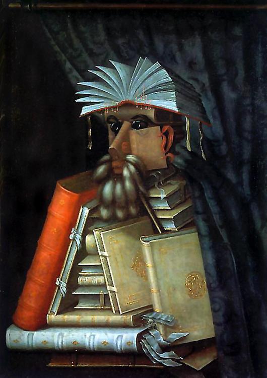 Le bibliothécaire par Giuseppe Arcimboldo