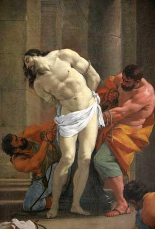 Le Christ en croix par Simon Vouet