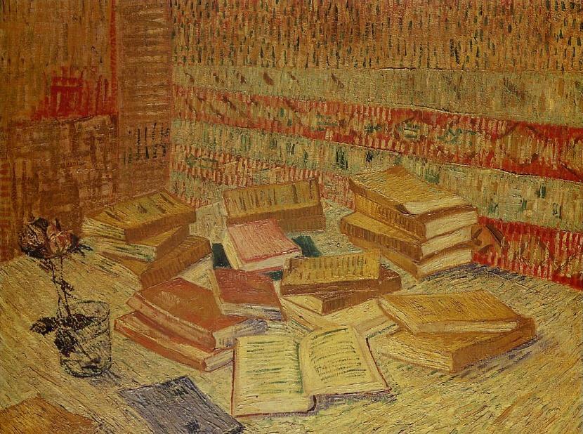 Les livres jaunes par Vincent Van Gogh