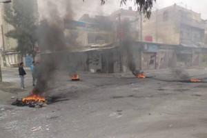 Des manifestants à Homs le 6 février 2012