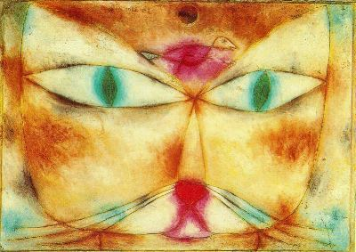 """""""Chat et oiseau"""" de Paul Klee, 1928"""