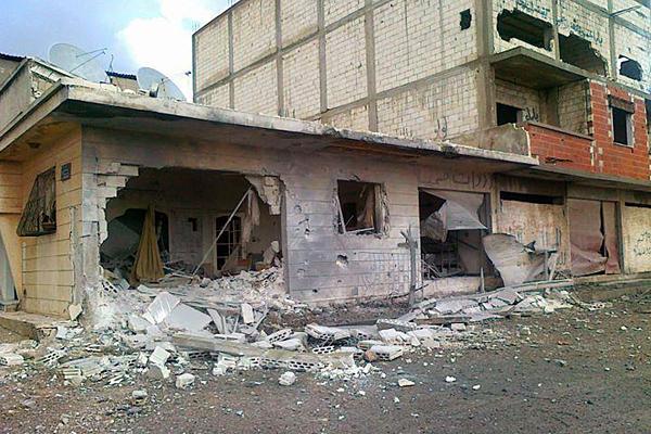 Baba Amr, un quartier de la province de Homs, dévasté, le 20 février 2012