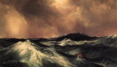 Thomas Moran The Angry Sea Painting