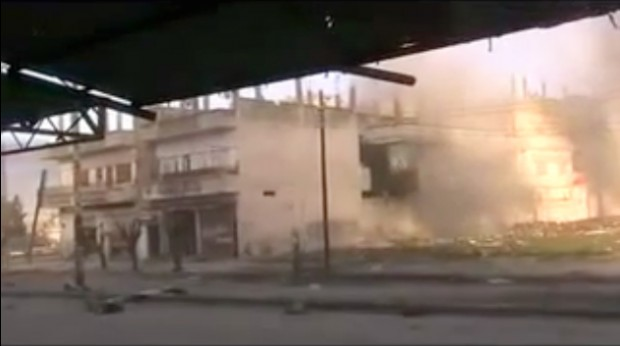 Homs bombardée