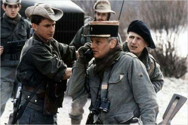 Bruno de Stabenrath et Jacques Perrin lors du tournage de « L'honneur D'un Capitaine »