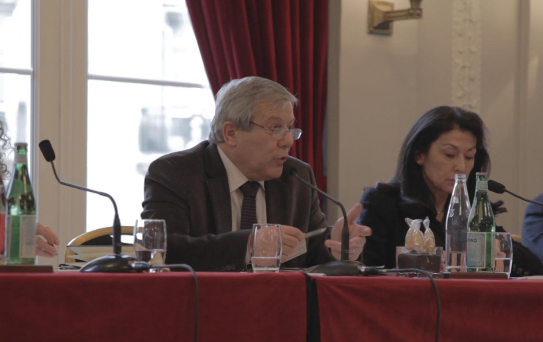 Guy Briole et Agnès Aflalo, lors de la conférence au Lutetia le 4 mars 2012