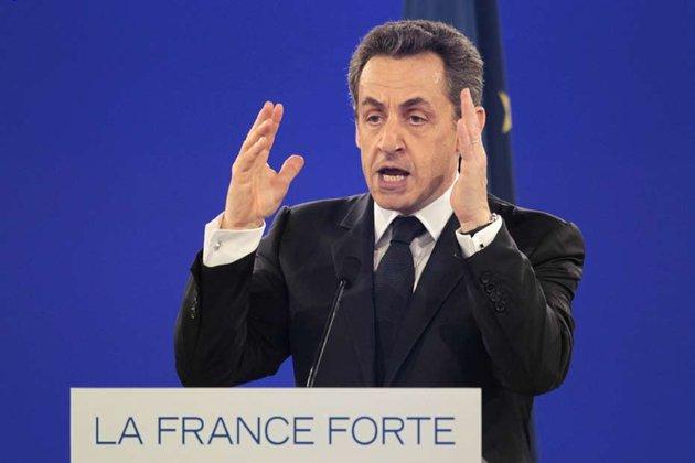 Nicolas Sarkozy lors du discours de Villepinte, le 11 mars 2012