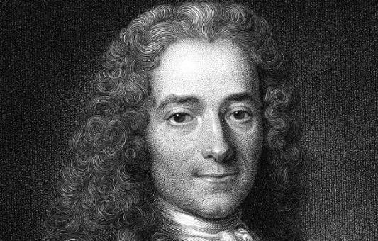 Gravure représentant Voltaire (1694-1778)