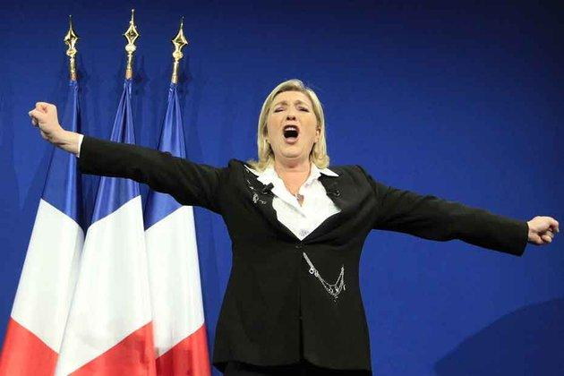 Marine Le Pen, le dimanche 22 avril 2012.