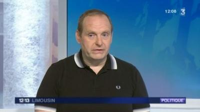 Vincent Gérard, secrétaire départementale du Fn sur le plateau de Midi Pile, le 15 mars