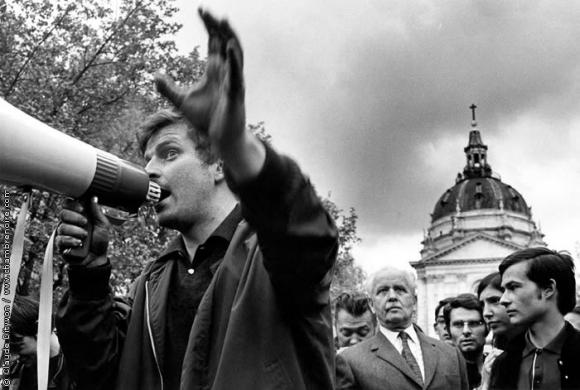 Cohn-Bendit et Aragon le 9 mai 1968