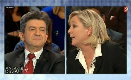 Mélenchon et Marine Le Pen
