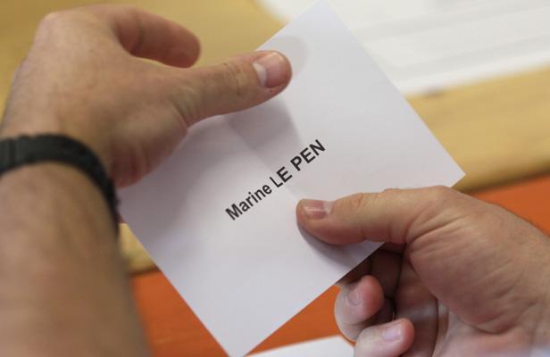 Bulletin de vote pour Marine Le Pen