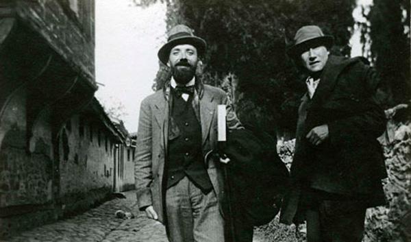 André Gide aux côtés d'Henri Ghéon à Brousse, Turquie, 1914