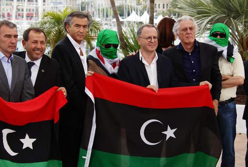 Sulaiman Fortia, Bernard-Henri Lévy, François Margolin, Gilles Hertzog et deux résistants syriens