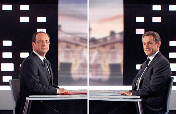 François Hollande et Nicolas Sarkozy lors du débat de l'entre-deux tours