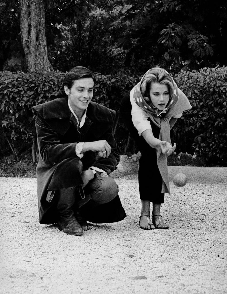 """Jane Fonda et Alain Delon dans les """"Félins"""""""