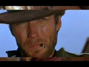 Clint Eastwood dans Pour une poignée de dollars