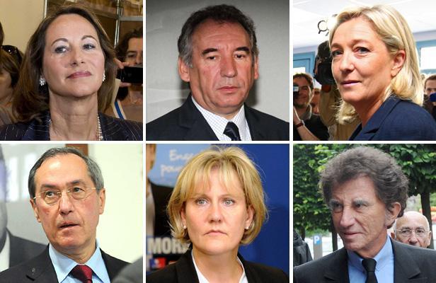 Ségolène Royal, François Bayrou, Marine Le Pen, Claude Guéant, Nadine Morano, Jack Lang