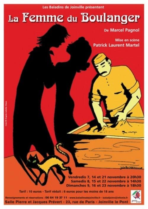 Affiche d'une représentation théâtrale de La femme du boulanger