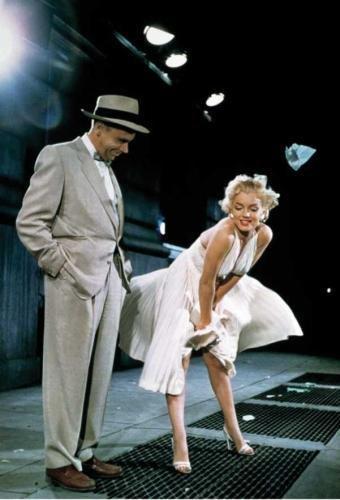Sept ans de réflexion, avec Marilyn Monroe.