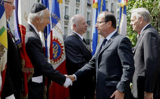 François Hollande à la commémoration du 70e anniversaire de la Rafle du Vel d'Hiv.