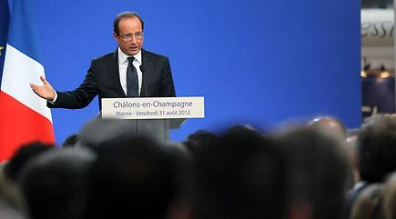 François Hollande a prononcé un discours ce vendredi matin dans la Marne.