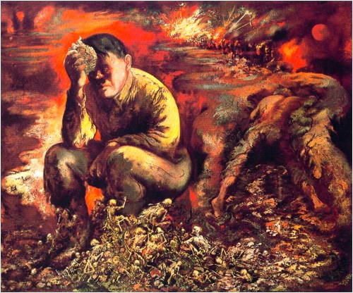 "George Grosz, ""Cain, ou Hitler en enfer""."