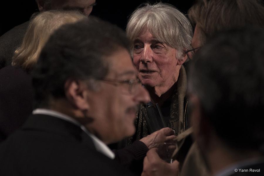 """André Glucksmann lors de la première au Cinéma Saint-Germain du documentaire """"Eloge du chardon"""", de la collection Empreintes. Un film à voir ce vendredi sur France 5"""