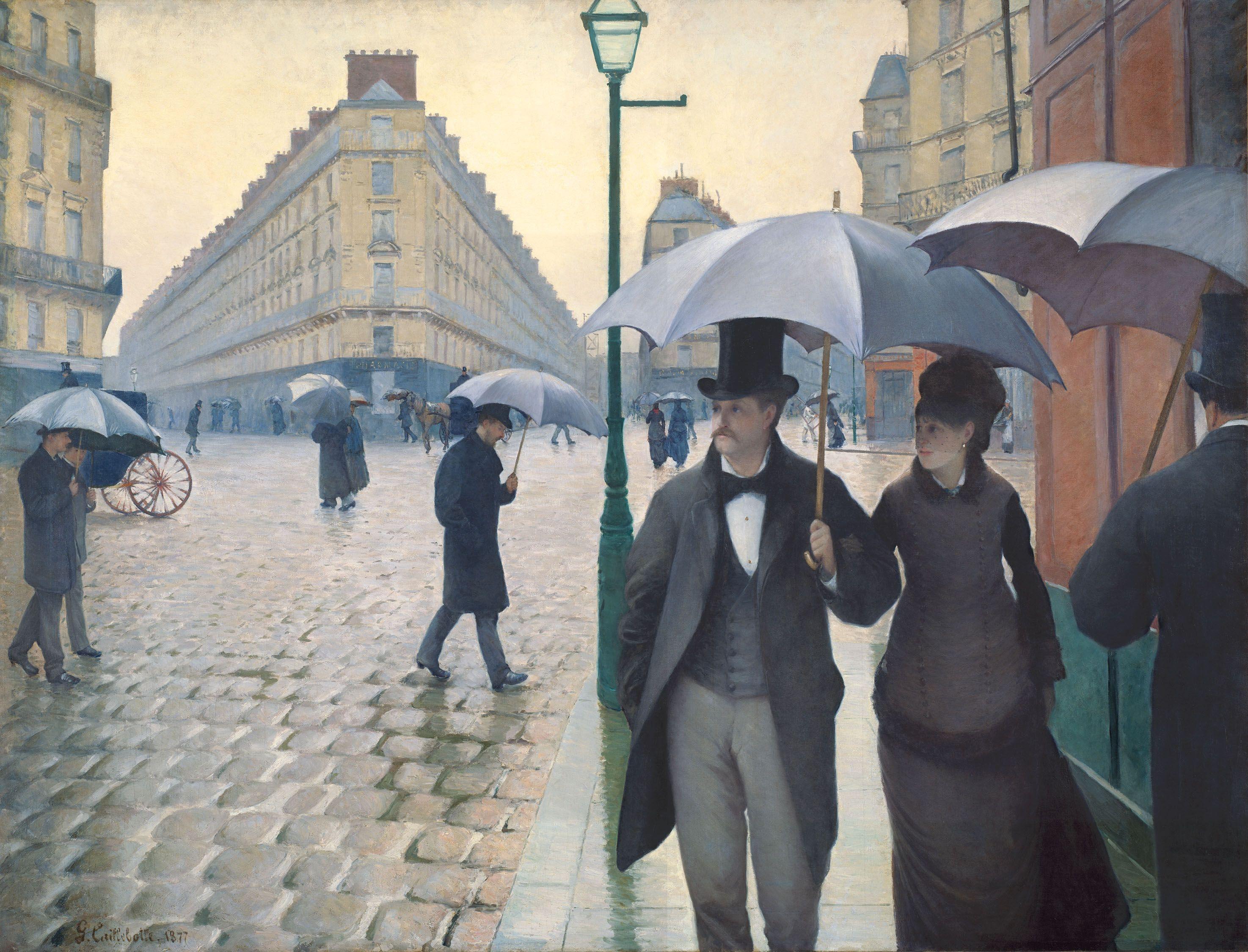 Rue de Paris, jour de pluie de Gustave Caillebotte, 1877, Chicago, Art Institute.