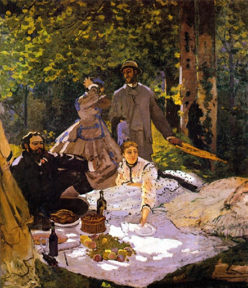 Le Déjeuner sur l'herbe de Claude Monet,1865-1866, Paris, musée d'Orsay.