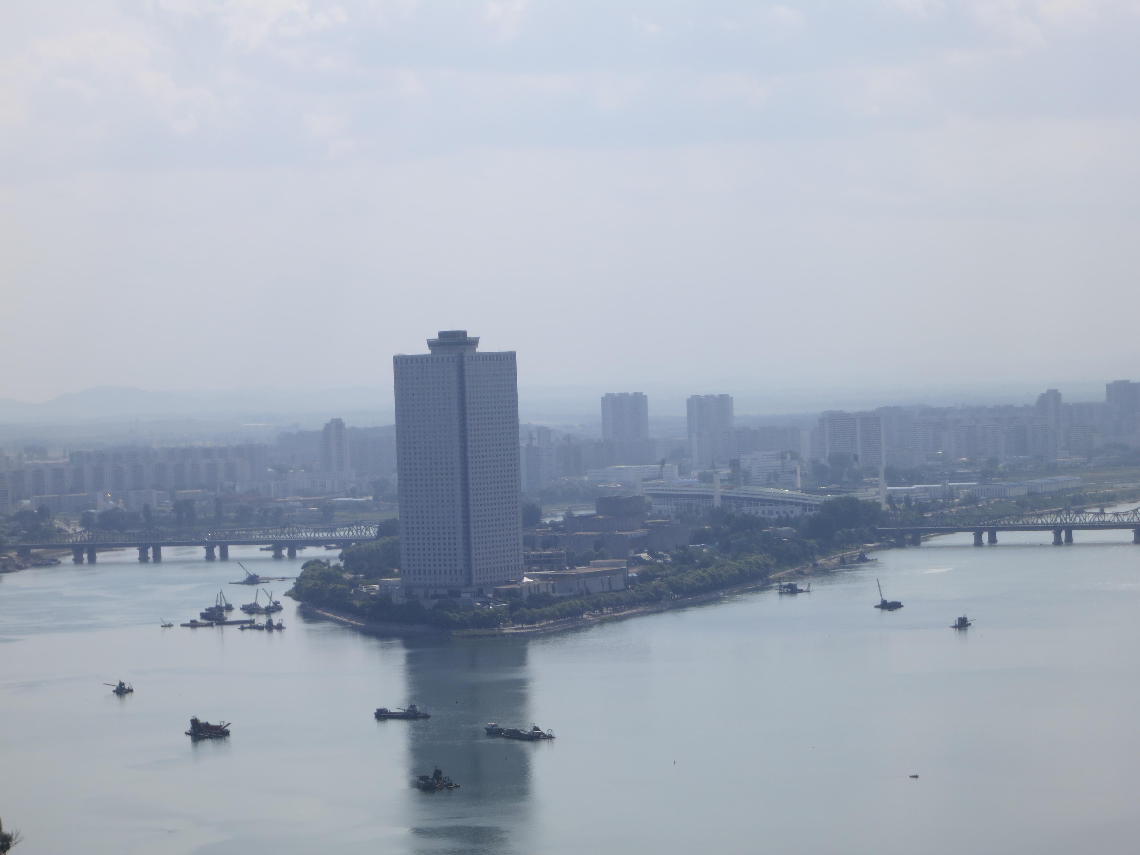 Vue sur Pyongyang, capitale de la Corée du Nord. Photo : Olivier Racine