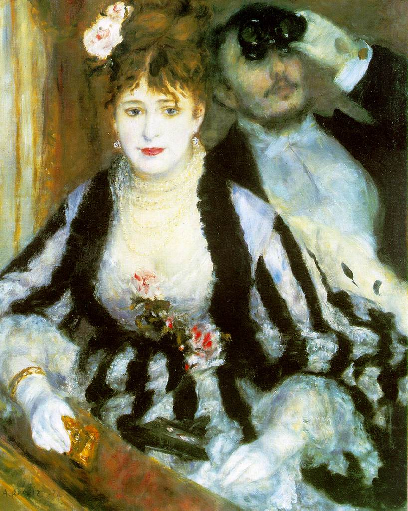 La Loge de Pierre-Auguste Renoir, 1874, Londres, Courtauld Institute of Art