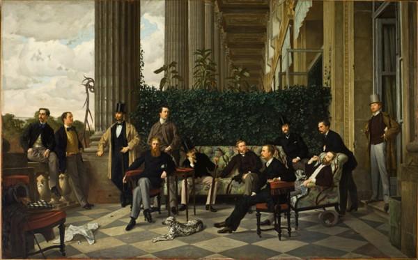 Le Cercle de la rue Royale de James Tissot, 1868, Paris, musée d'Orsay.