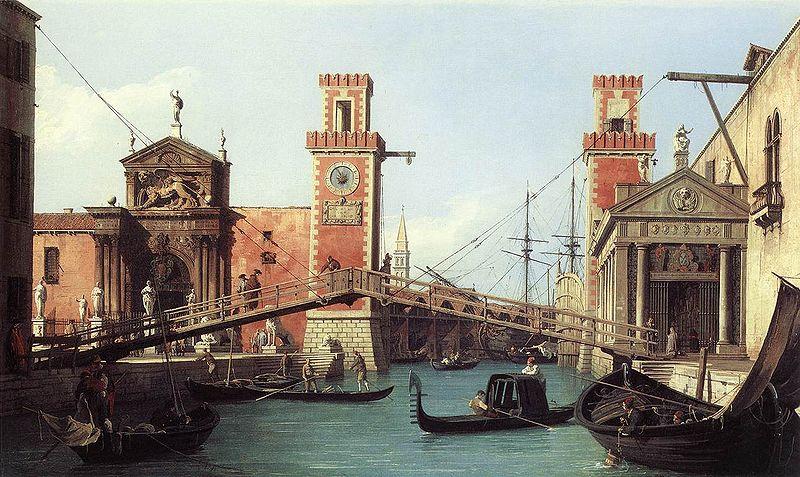 L'entrée de l'arsenal, de Canaletto, 1732
