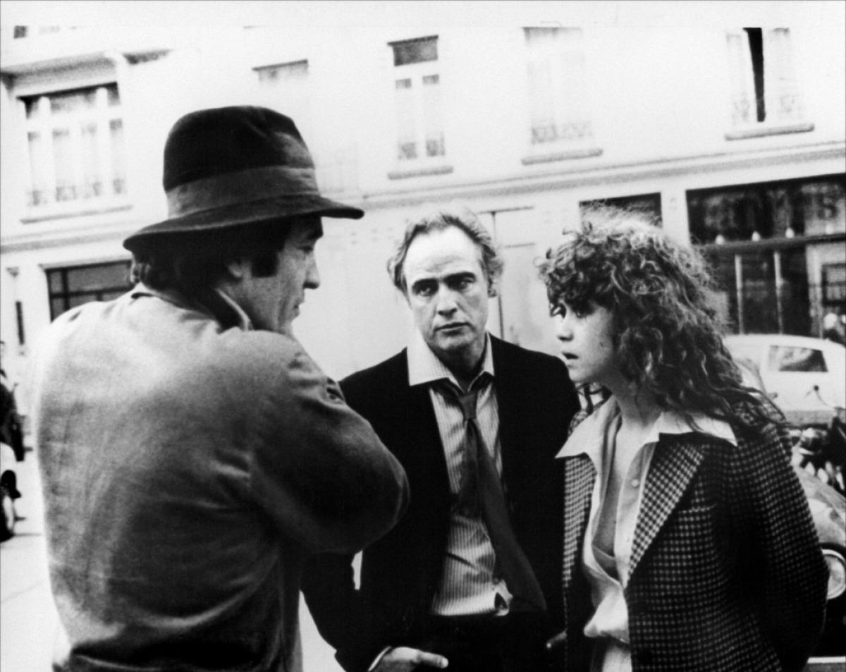 Marlon Brando et Maria Schneider sur le tournage d'Un Dernier tango à Paris.