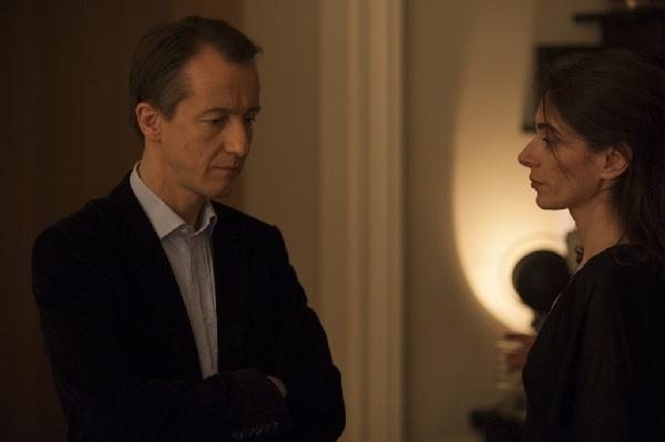 """Christophe Barbier et Lara Guirao, sur le tournage de """"Doutes"""". Photo : Yann Revol"""