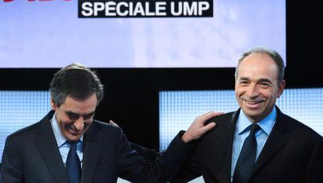 Francois Fillon et Jean-Francois Copé lors du débat sur France 2
